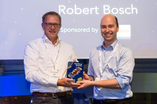 And the winner of the automotive Hardware Innovation Award 2018 is... Robert Bosch GmbH!
